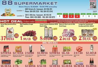88 Supermarket Flyer September 3 to 9