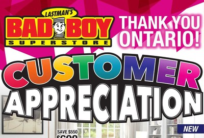 Lastman's Bad Boy Superstore Flyer August 29 to September 14