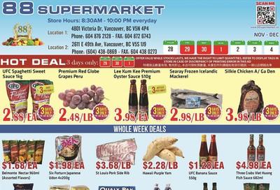 88 Supermarket Flyer November 28 to December 4