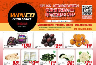 WinCo Food Mart (HWY 7) Flyer September 3 to 9