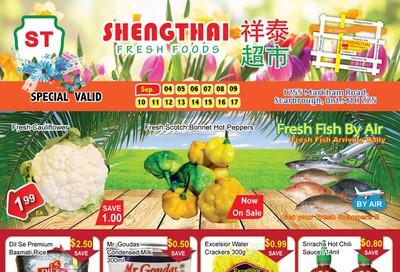 Shengthai Fresh Foods Flyer September 4 to 17