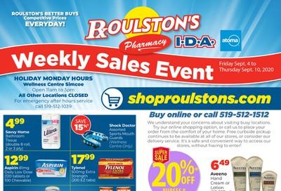 Roulston's Pharmacy Flyer September 4 to 10