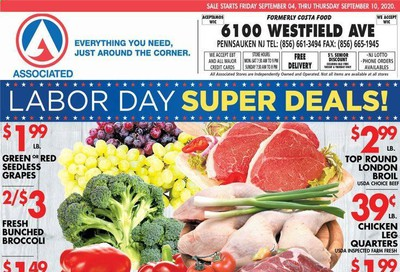 Associated Supermarkets Weekly Ad September 4 to September 10