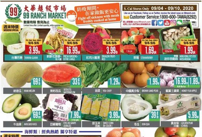 99 Ranch Market (CA) Weekly Ad September 4 to September 10