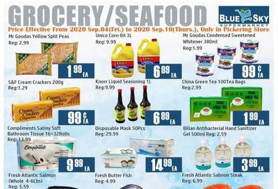 Blue Sky Supermarket (Pickering) Flyer September 4 to 10