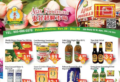 Ajax Foodmart Flyer November 29 to December 5