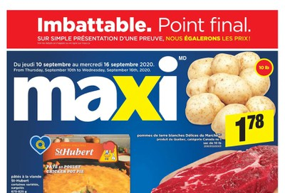 Maxi & Cie Flyer September 10 to 16