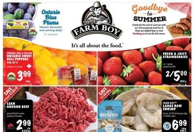 Farm Boy Flyer September 10 to 16