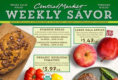 Central Market Weekly Ad September 9 to September 15