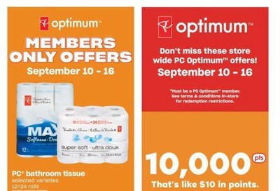 Loblaws City Market (West) Flyer September 10 to 16