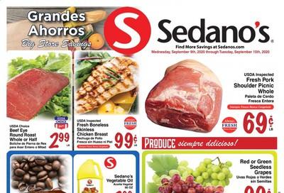 Sedano's Weekly Ad September 9 to September 15