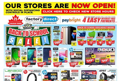 Factory Direct Flyer September 9 to 16