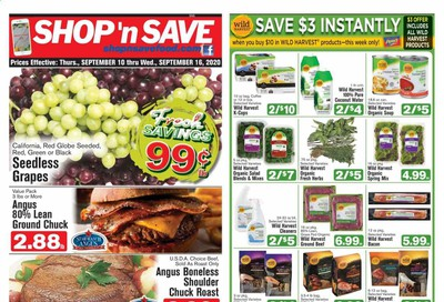 Shop 'n Save (Pittsburgh) (MD, NY, OH, PA) Weekly Ad September 10 to September 16