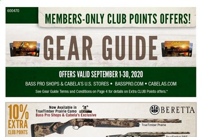 Bass Pro Shops Weekly Ad September 1 to September 30