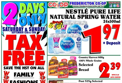 Fredericton Co-op Flyer September 10 to 16