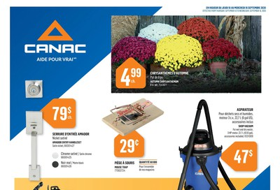 Canac Flyer September 10 to 16