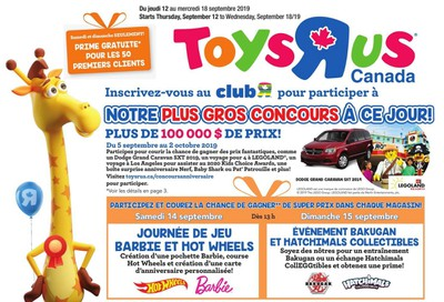 Toys R Us (QC) Flyer September 12 to 18