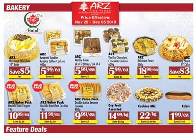 Arz Fine Foods Flyer November 29 to December 5