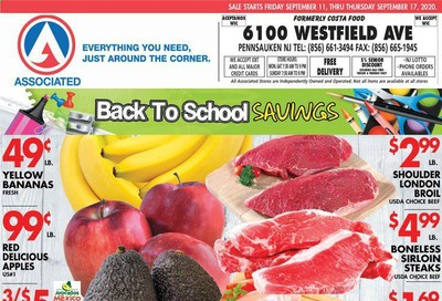 Associated Supermarkets Weekly Ad September 11 to September 17