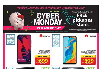 Walmart Cyber Monday Flyer December 2 to 4, 2019