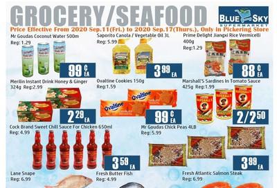 Blue Sky Supermarket (Pickering) Flyer September 11 to 17