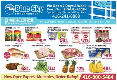 Blue Sky Supermarket (North York) Flyer September 11 to 17