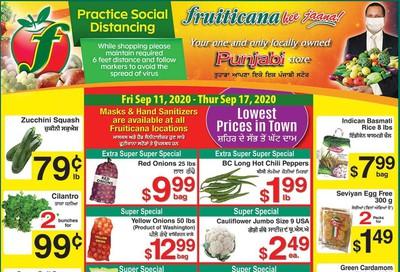 Fruiticana (Calgary) Flyer September 11 to 17