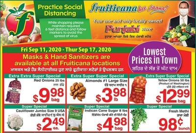 Fruiticana (Edmonton) Flyer September 11 to 17