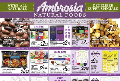 Ambrosia Natural Foods Flyer December 1 to 31
