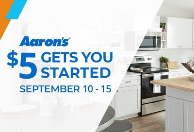 Aaron's Weekly Ad September 10 to September 15