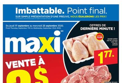 Maxi & Cie Flyer September 17 to 23