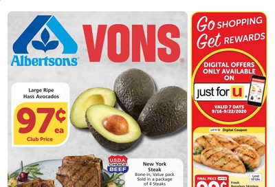 Albertsons Weekly Ad September 16 to September 22