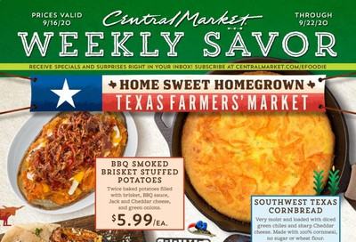 Central Market Weekly Ad September 16 to September 22