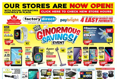Factory Direct Flyer September 16 to 23