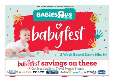 Babies R Us Flyer September 17 to 30