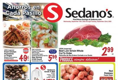 Sedano's Weekly Ad September 16 to September 22