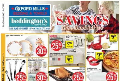 Beddington's Flyer September 16 to October 13