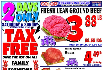 Fredericton Co-op Flyer September 17 to 23