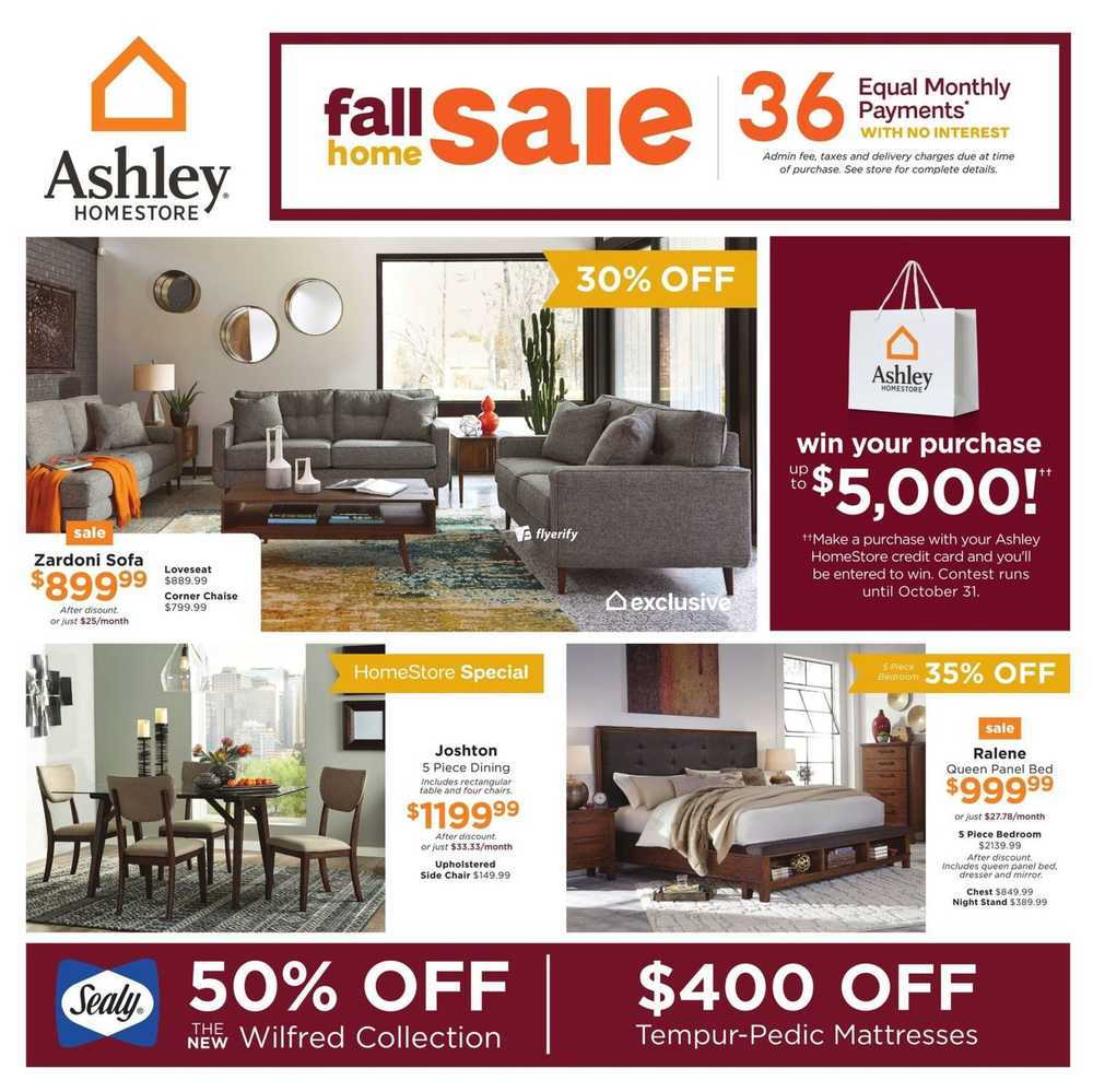 Home Store Website: Ashley Furniture Homestore Flyers