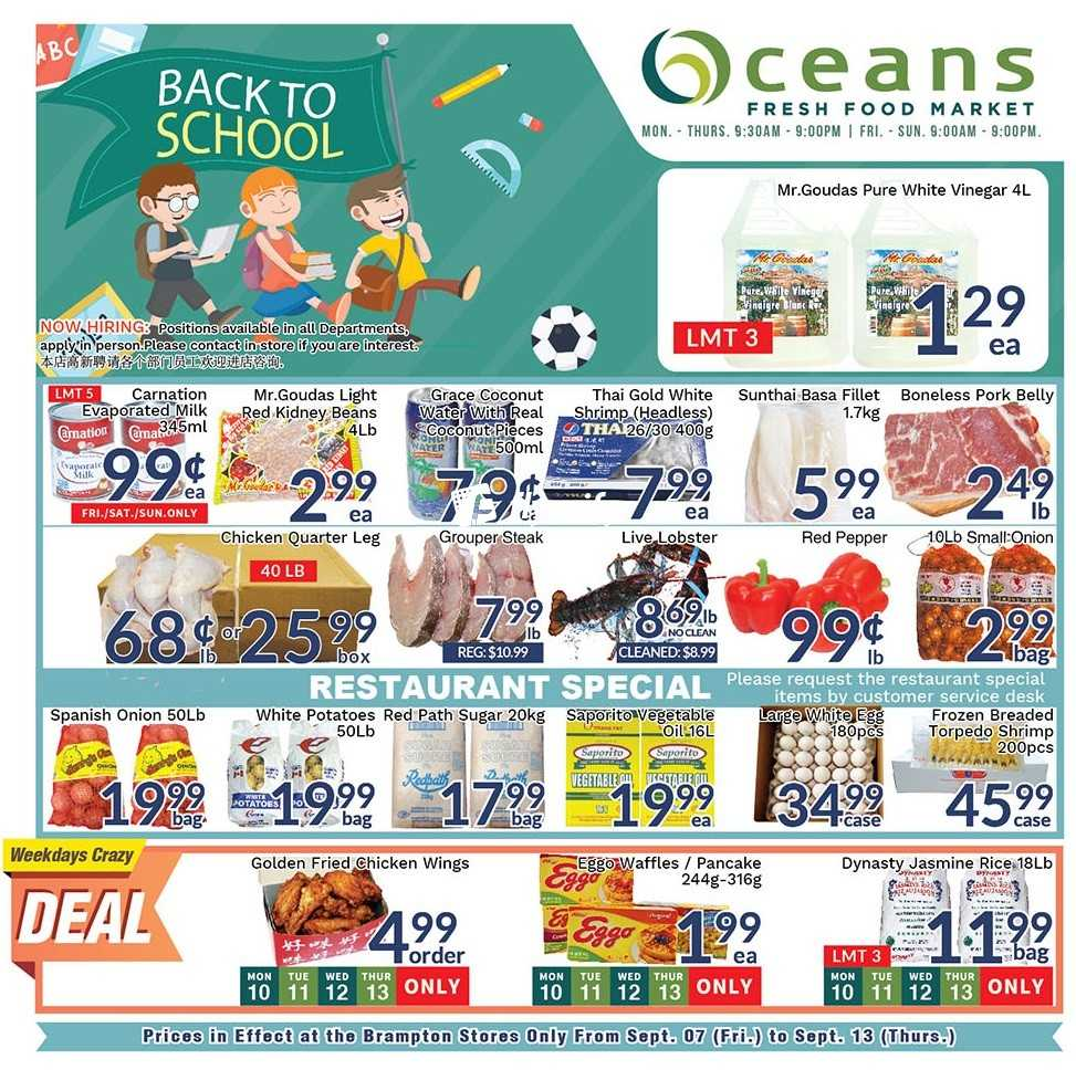 Oceans Fresh Food Market Flyers