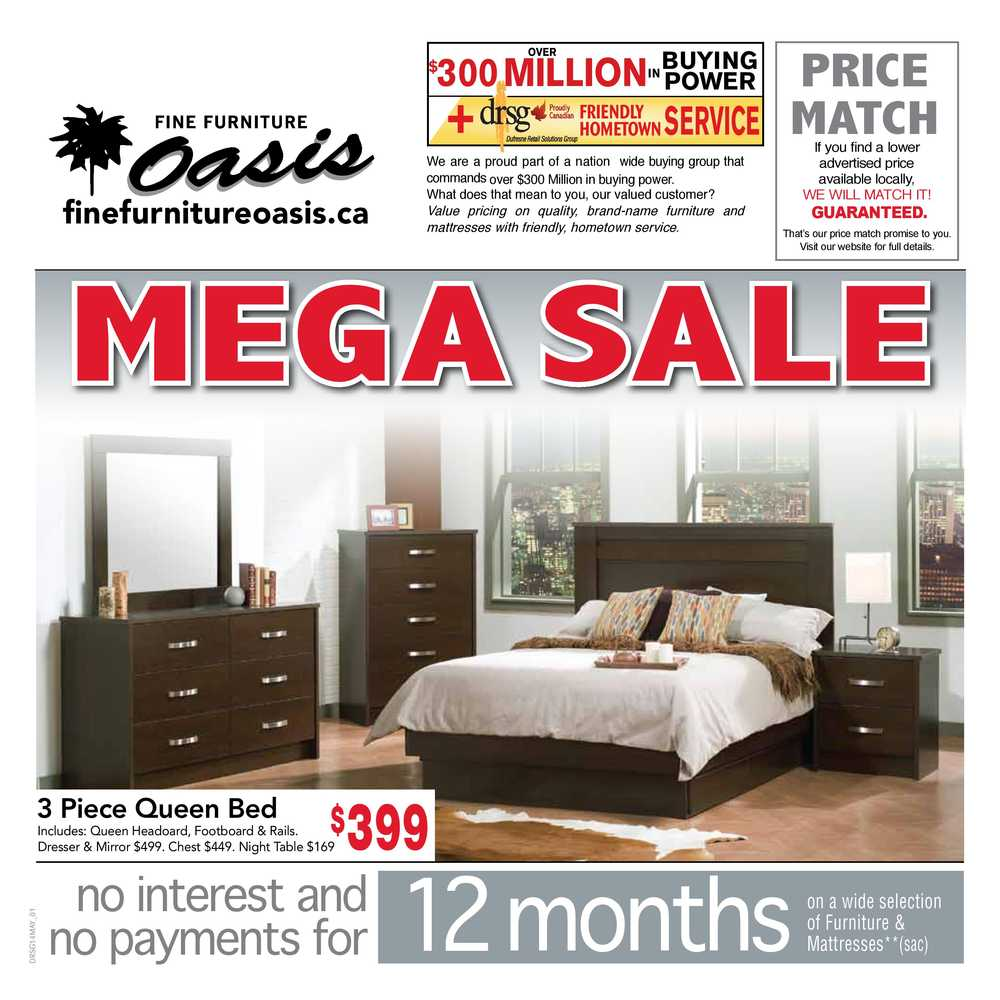 Fine furniture oasis flyers for P s furniture flyer
