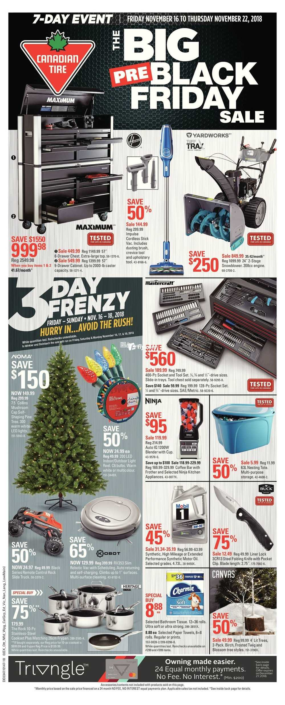 Canadian Tire Pre Black Friday Flyer November 16 To 22 Canada