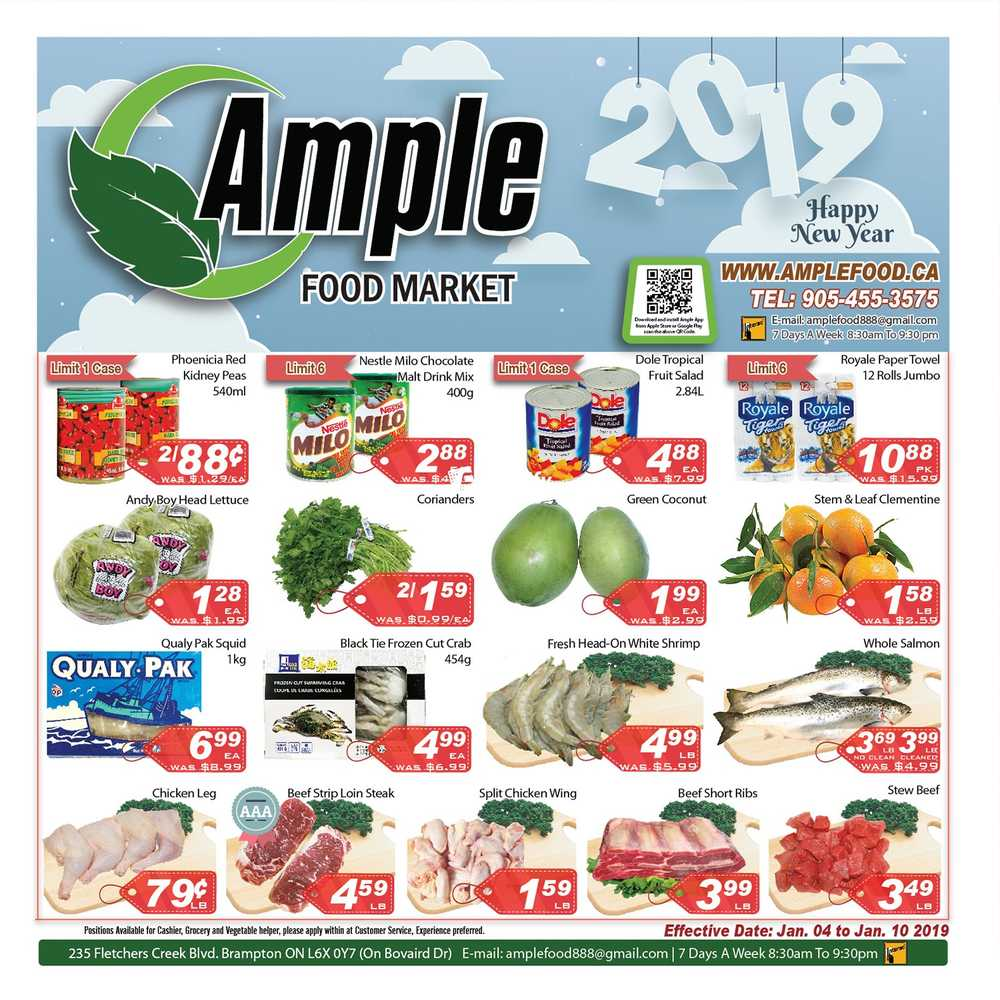 ample food market flyer january 4 to 10 canada