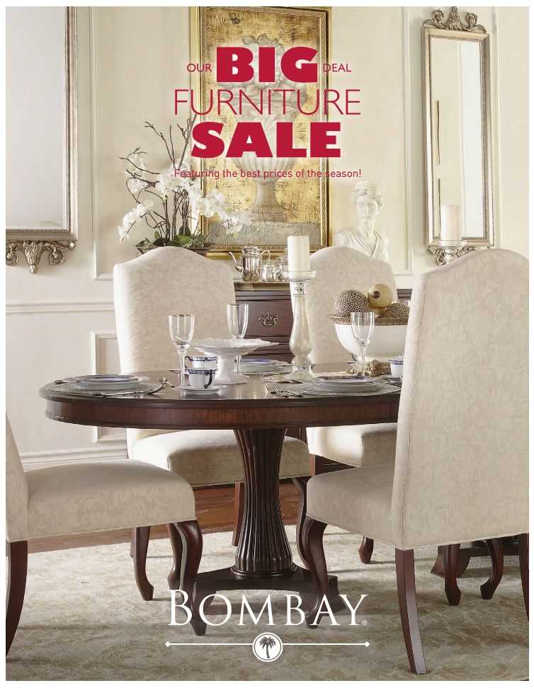 Bombay Furniture Sale Catalogue Canada