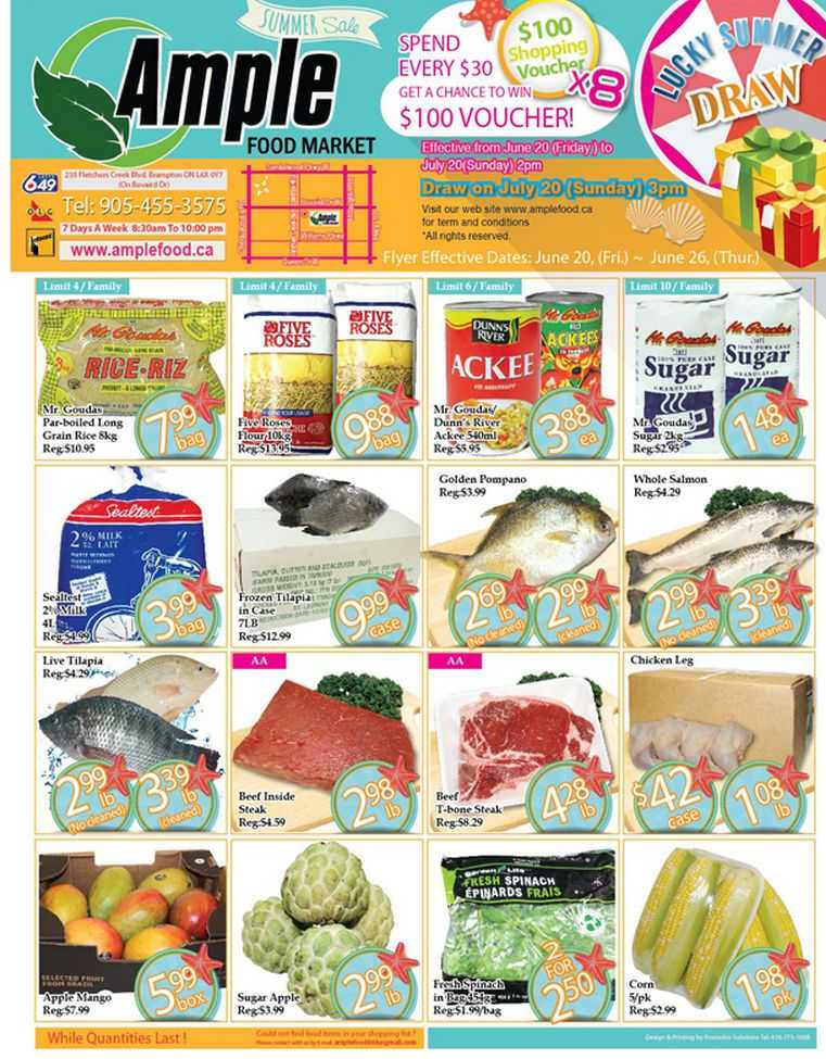 ample food market flyer june 20 to 26