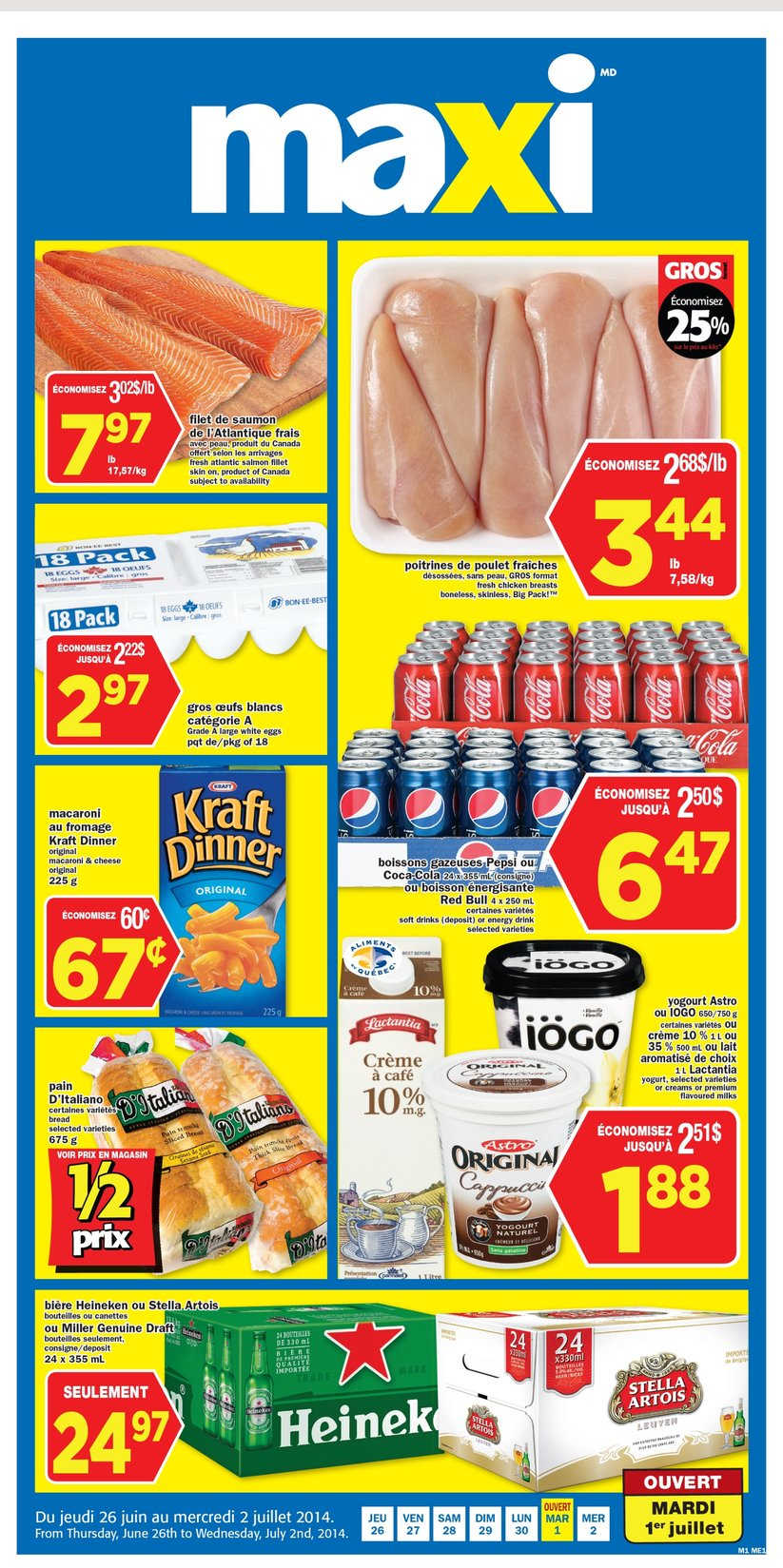 Maxi Bi Weekly Flyer Qc June 26 To July 2 Canada