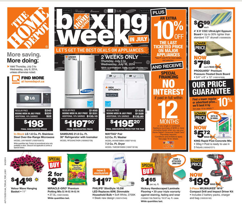 Home Depot Flyer (ON) July 3 To July 9 Canada