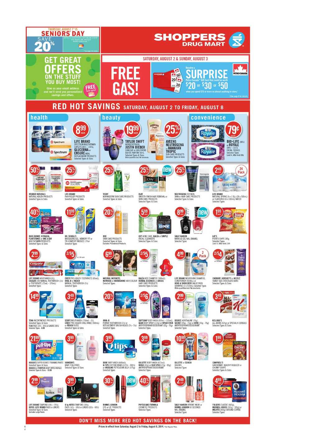 Shoppers Drug Mart (West) flyer August 2 to 8 Canada