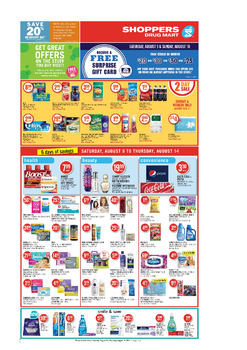 Shoppers Drug Mart (ON) flyer August 9 to 14 Canada