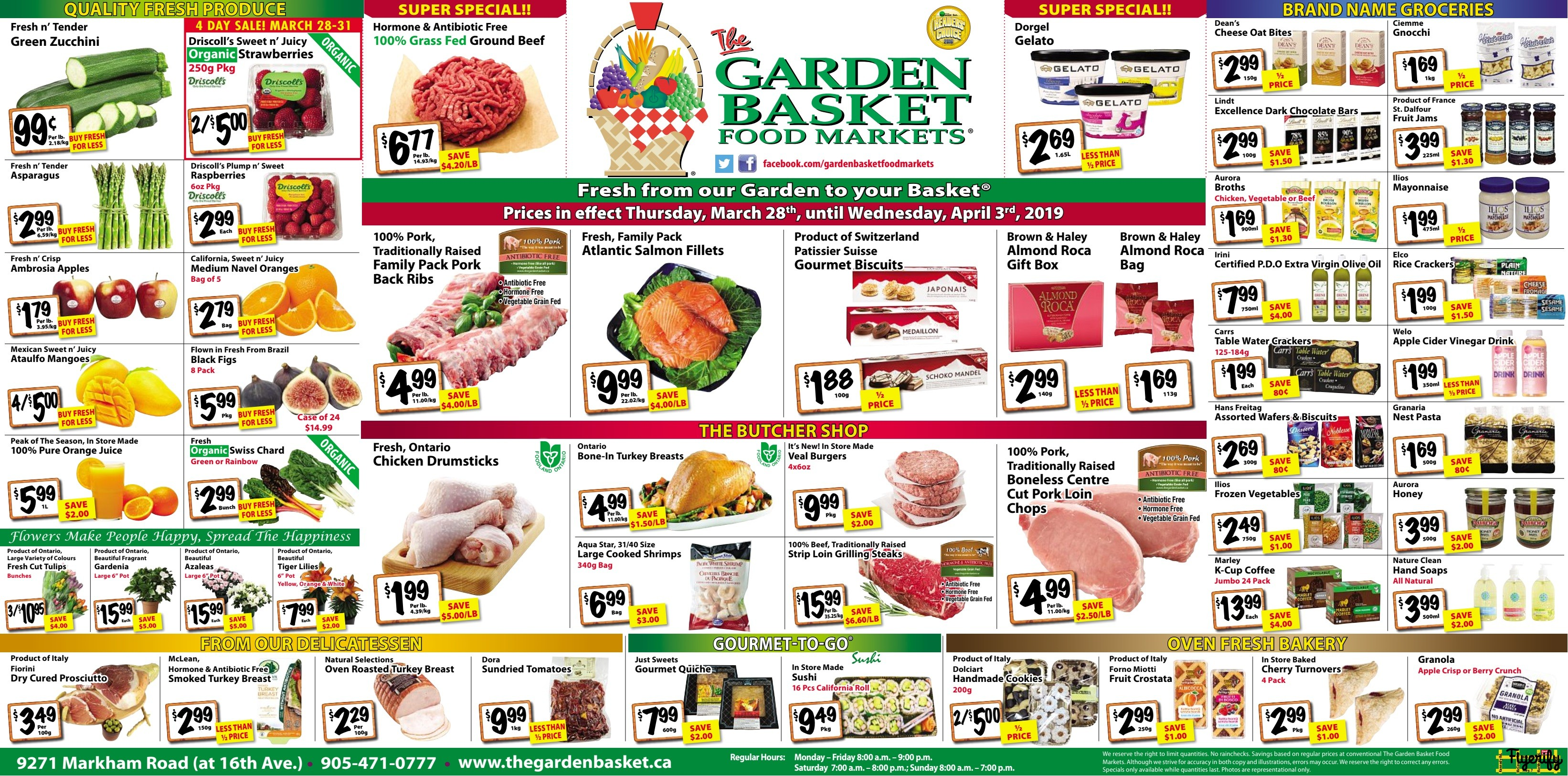 the garden basket flyer march 28 to april 3 canada